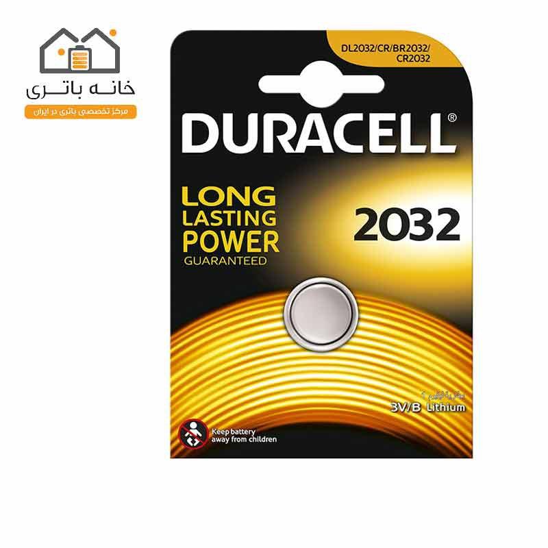 باتری سکه ای 2032 لیتیوم تکی دوراسل(Duracell)
