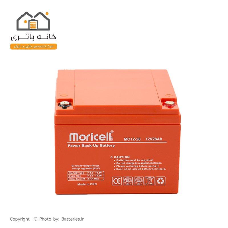 باتری 12 ولت 28 آمپر موریسل - Moricell
