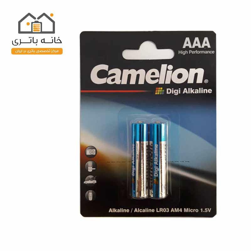 باتری نیم قلمی دی جی آلکالاین کملیون LR03-BP2DG