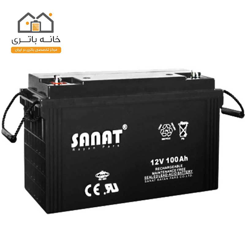باتری 12 ولت 100 آمپر صنعت(Sanat)