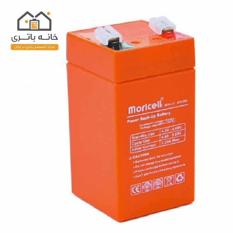 باتری سیلد اسید 4 ولت 4 آمپر موریسل(Moricell)