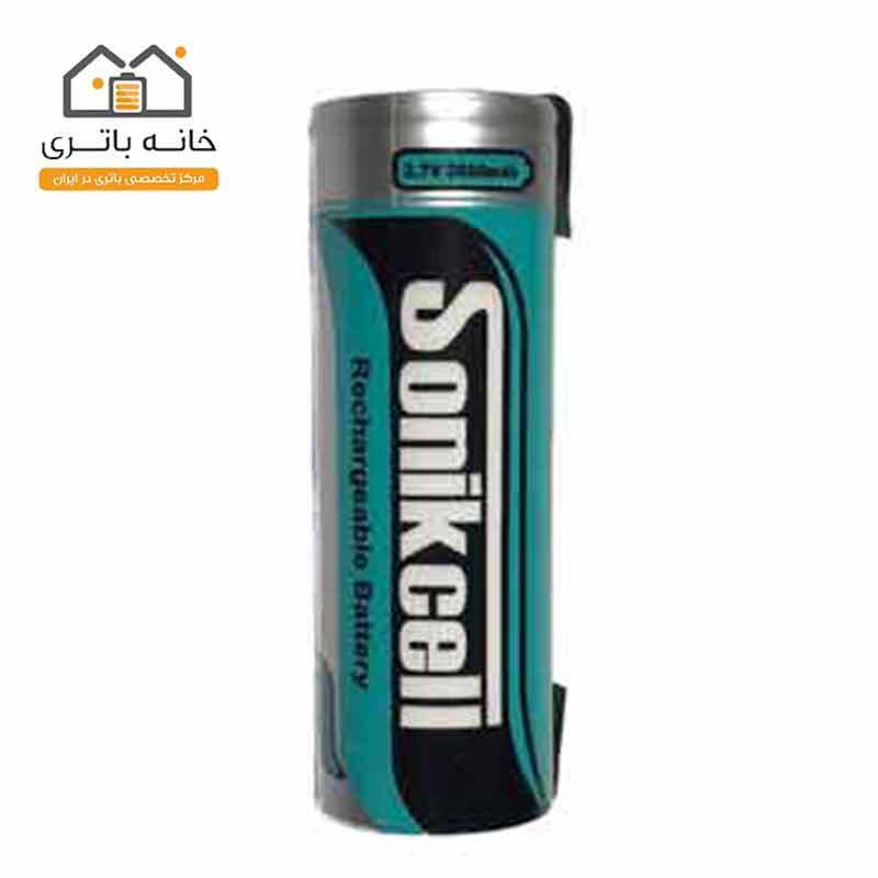 باتری لیتیوم 18650 شارژی 3.7 ولت 2600 میلی آمپر سونیک سل(Sonikcell)