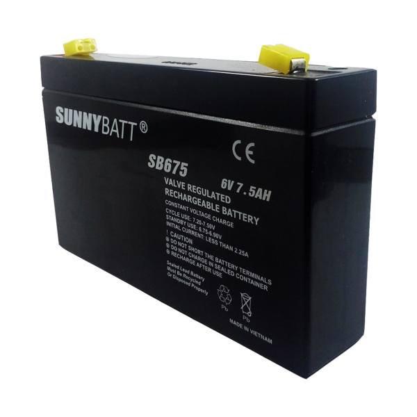 باتری 6 ولت 7.5 آمپر سانی بت Sunny batt