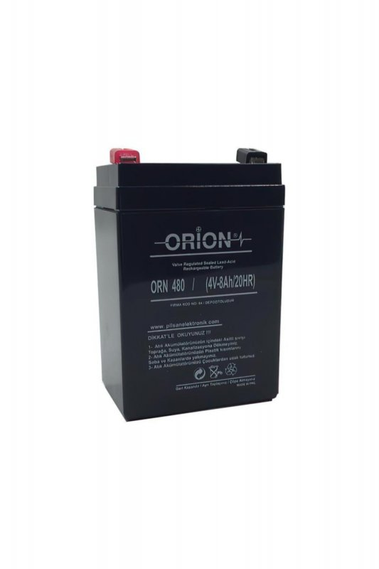 باتری سیلد اسید 4 ولت 8 آمپر اوریون orion