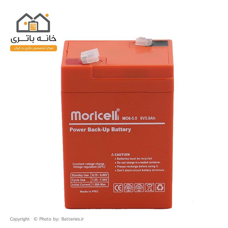 باتری سیلد اسید 6 ولت 5 آمپر موریسل moricell