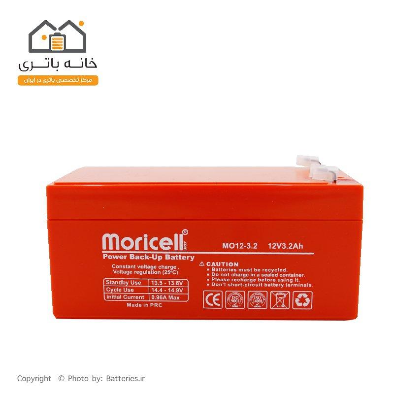 باتری موریسل 12 ولت 3.3 آمپر