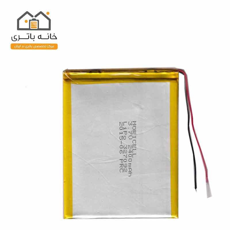 باتری لیتیوم پلیمر3/7ولت2400میلی آمپر(327099)