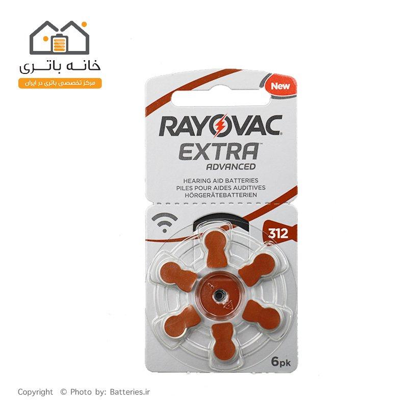 باتری سمعک شماره 312 ریواک - Rayovac