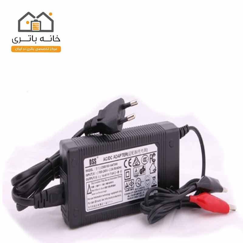 شارژر باتری سیلدلیداسید14/4 ولت 7.0 آمپر موریسل