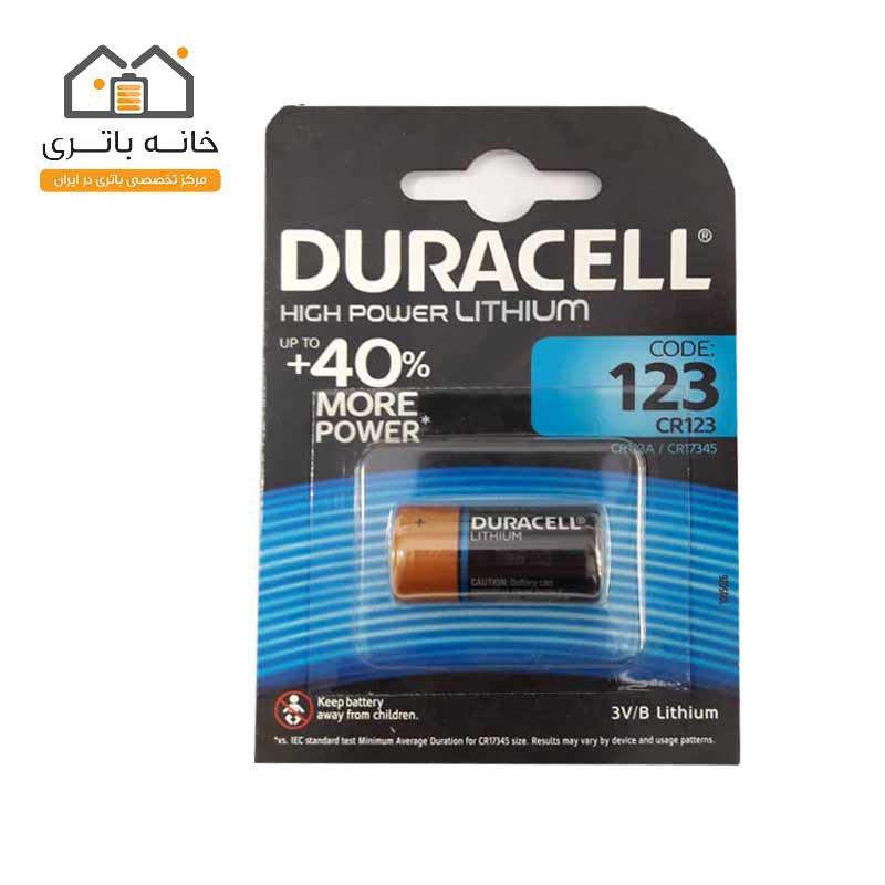 باتری لیتیوم دوراسل(Duracell) مدل CR123