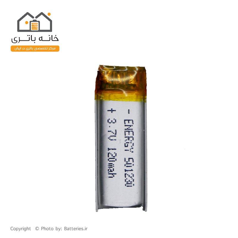 باتری لیتیوم پلیمر 3.7 ولت 120 میلی آمپر ساعت انرژی (501230)