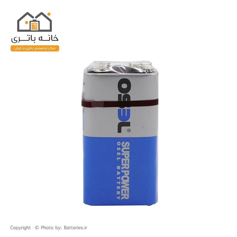 باتری کتابی اسل 9 ولت معمولی osel