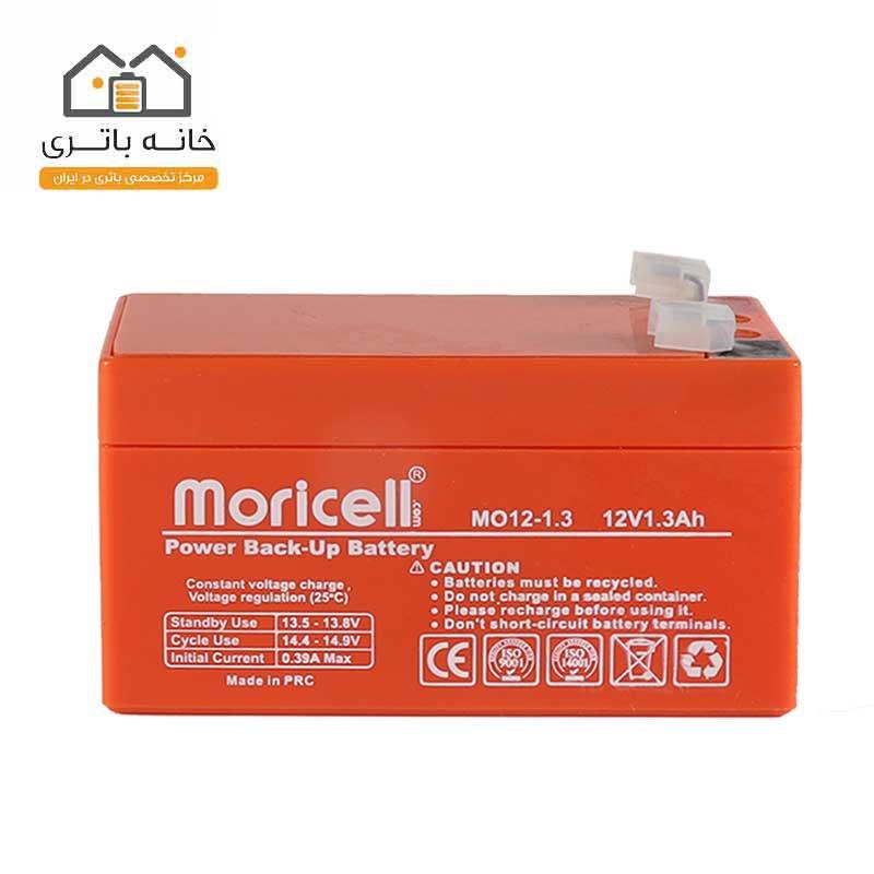 باتری سیلد اسید 12 ولت 1.3 آمپر - moricell