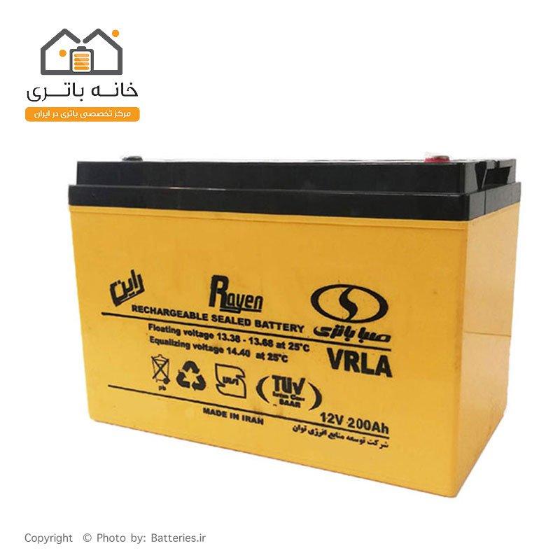 باتری 12 ولت 200 آمپر صبا باتری - Saba Battery