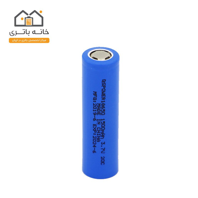 باتری 18650 لیتیوم آیون 3.7 ولت 1500 میلی آمپر 20C جی اس پاور - GS Power