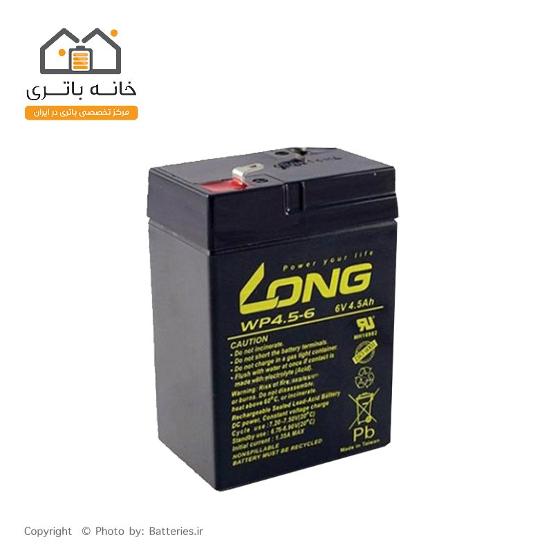 باتری سیلد اسید 6 ولت 4.5 آمپر لانگ - Long