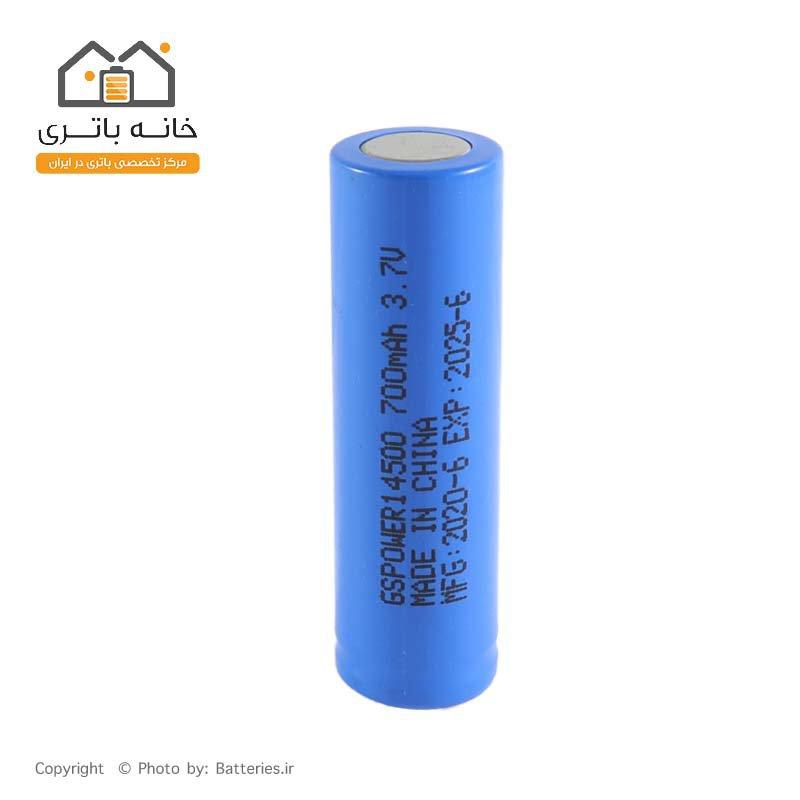 باتری 14500 لیتیوم شارژی 3.7 ولت 700 میلی آمپر GS Power