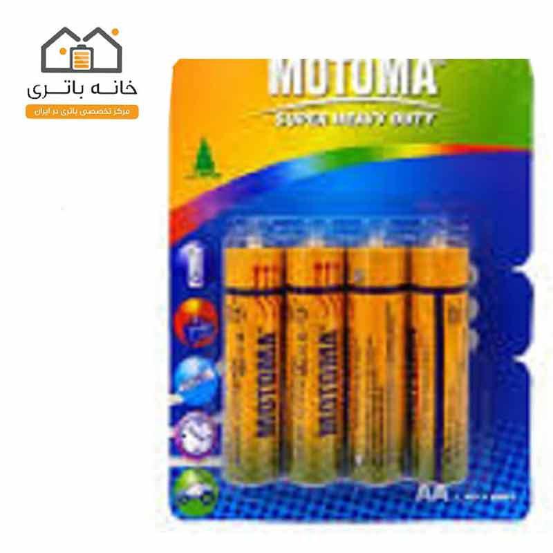 باتری نیم قلمی معمولی4 عددی موتوما motoma