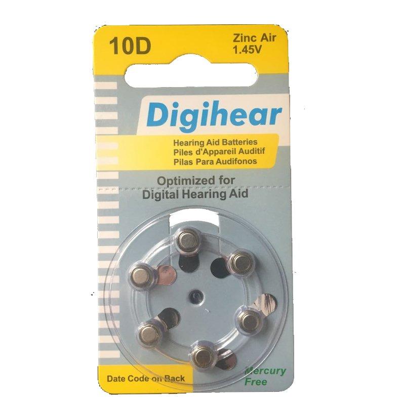 باتری سمعک شماره 10 دیجی هیر Digihear
