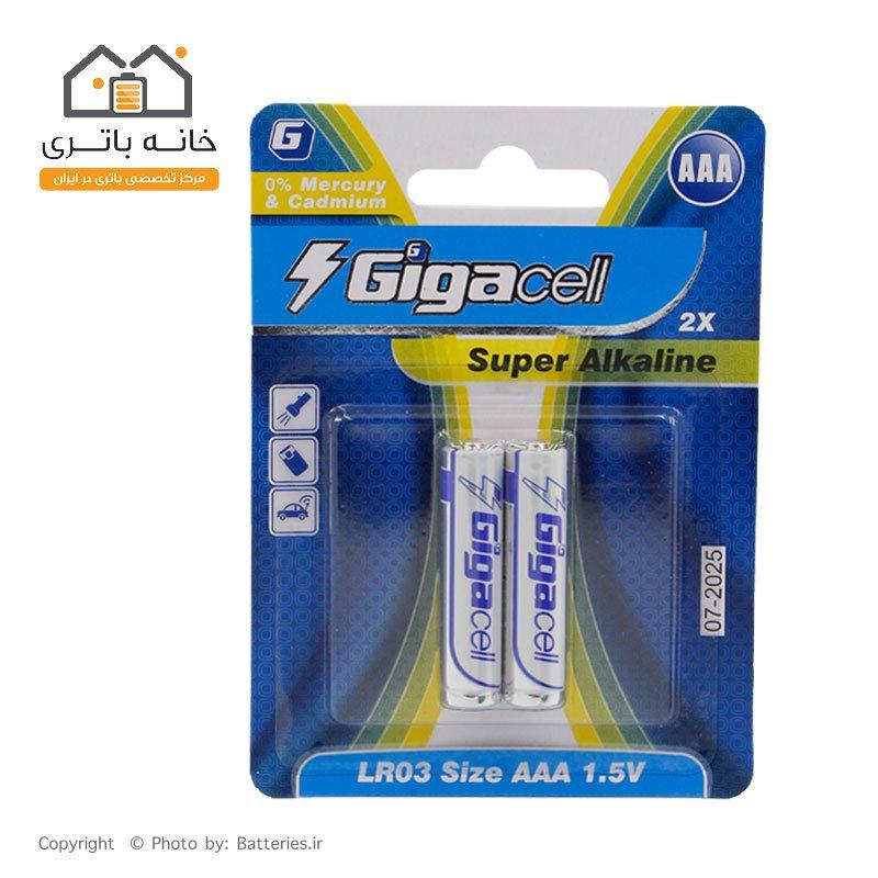 باتری نیم قلمی آلکالاین گیکاسل Gigacell