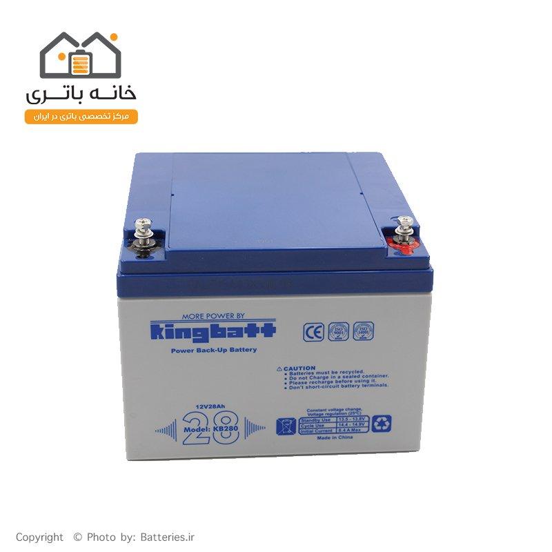 باتری سیلد اسید 12 ولت 28 آمپر  کینگ بت - kingbatt