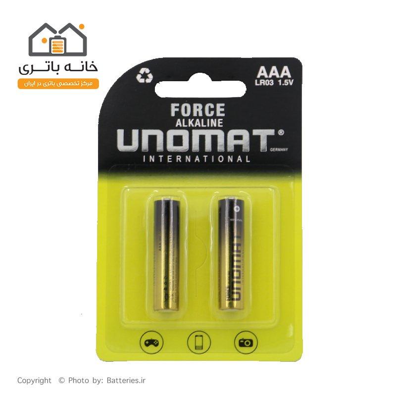 باتری نیم قلمی آلکالاین یونومات unomat