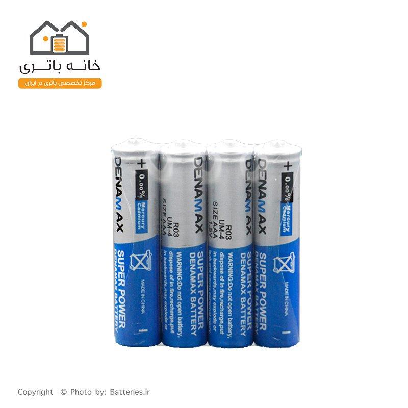باتری نیم قلمی معمولی شیرینگ 4 عددی دنامکس