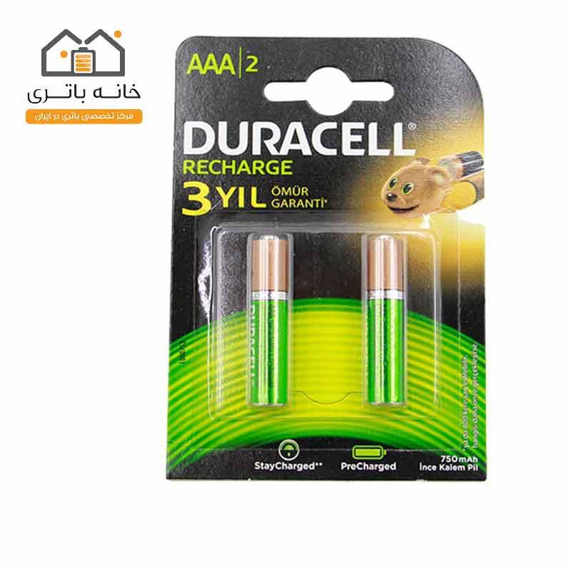 باتری نیم قلمی شارژی 750 میلی آمپر دوراسل(duracell)