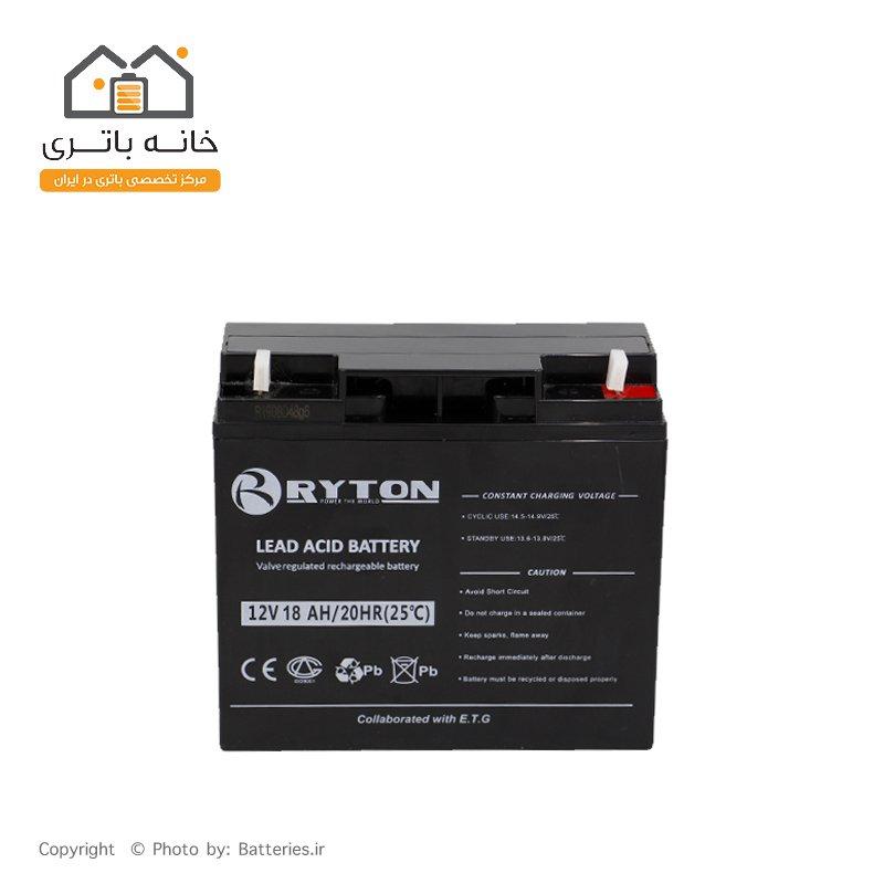 باتری سیلد اسید 12 ولت 18 آمپر رایتون - Ryton