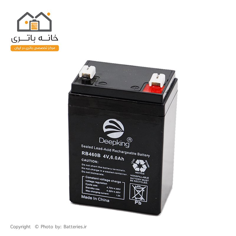 باتری سیلد اسید 4 ولت 6 آمپر دیپ کینگ DeepKing