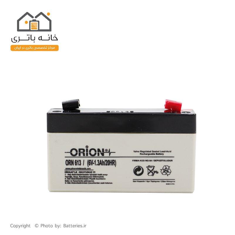 battery Sealed lead acid 6v 1.3Ah Orion