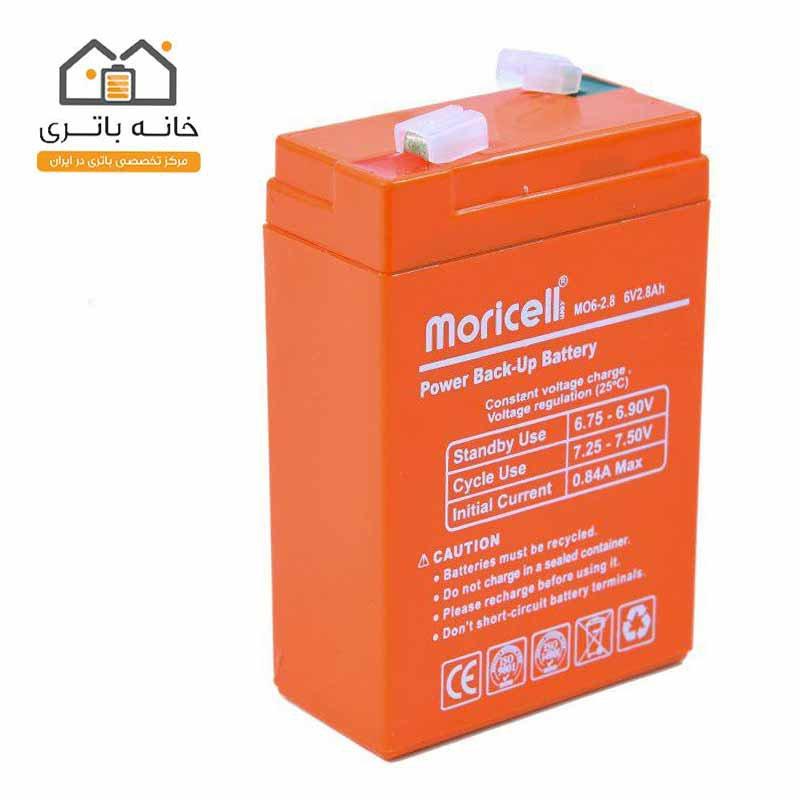باتری سیلد اسید 6 ولت 2.8 آمپر موریسل