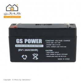 باتری سیلد اسید 6 ولت 1.3 آمپر جی اس پاور GS power