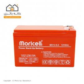 باتری سیلد اسید 12 ولت 9 آمپر موریسل - Moricell
