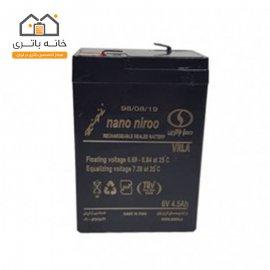 باتری سیلد اسید 6 ولت 4.5 آمپر صبا باتری Saba Battery