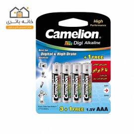 باتری نیم قلمی دی جی آلکالاین کملیون (LR03-BP4DG(3+1