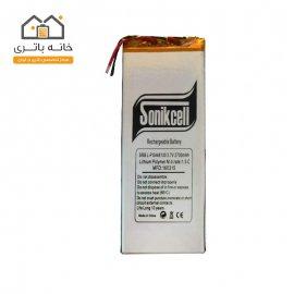 باتری لیتیوم پلیمر 3.7 ولت 2700 میلیآمپر 0448130سونیک سل( Sonikcell)