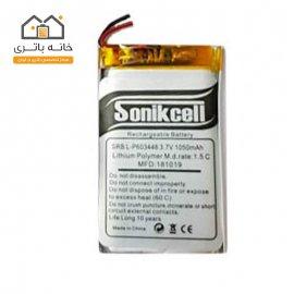 باتری لیتیوم پلیمر 3.7 ولت 1050 میلیآمپر -603448 سونیک سل( Sonikcell)