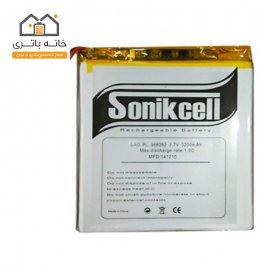 باتری لیتیوم پلیمر 3.7 ولت 3200 میلیآمپر-368082 سونیک سل( Sonikcell)