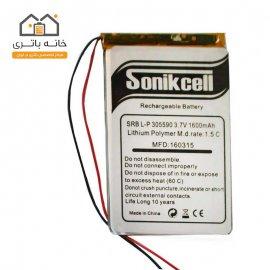 باتری لیتیوم پلیمر 3.7 ولت 1600 میلیآمپر 305590 سونیک سل( Sonikcell)