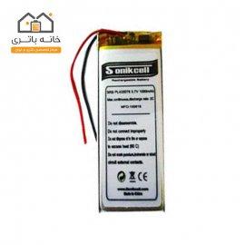 باتری لیتیوم پلیمر 3.7 ولت 1050 میلیآمپر-433078 سونیک سل( Sonikcell)