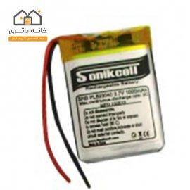 باتری لیتیوم پلیمر 3.7 ولت 1000 میلیآمپر-803040 سونیک سل( Sonikcell)