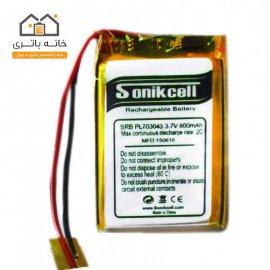 باتری لیتیوم پلیمر 3.7 ولت 800 میلیآمپر-703043 سونیک سل( Sonikcell)