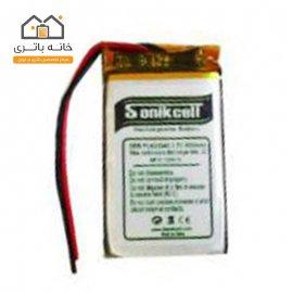 باتری لیتیوم پلیمر3.7 ولت 800 میلیآمپر-603048 سونیک سل( Sonikcell)