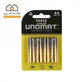 باتری قلمی یونومات مدل Force بسته 4 عددی