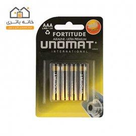 باتری نیم قلمی یونومات مدل Alkaline Ultra Premium بسته 4عددی
