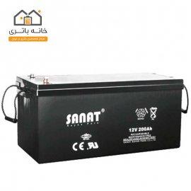 باتری 12 ولت 200 آمپر صنعت(Sanat)