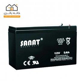 باتری 12 ولت 9 آمپر صنعت(Sanat)