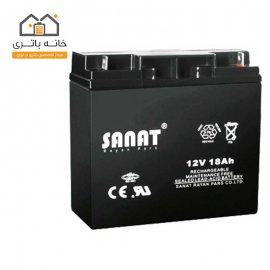 باتری 12 ولت 18 آمپر صنعت(Sanat)