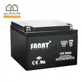 باتری 12 ولت 28 آمپر صنعت(Sanat)